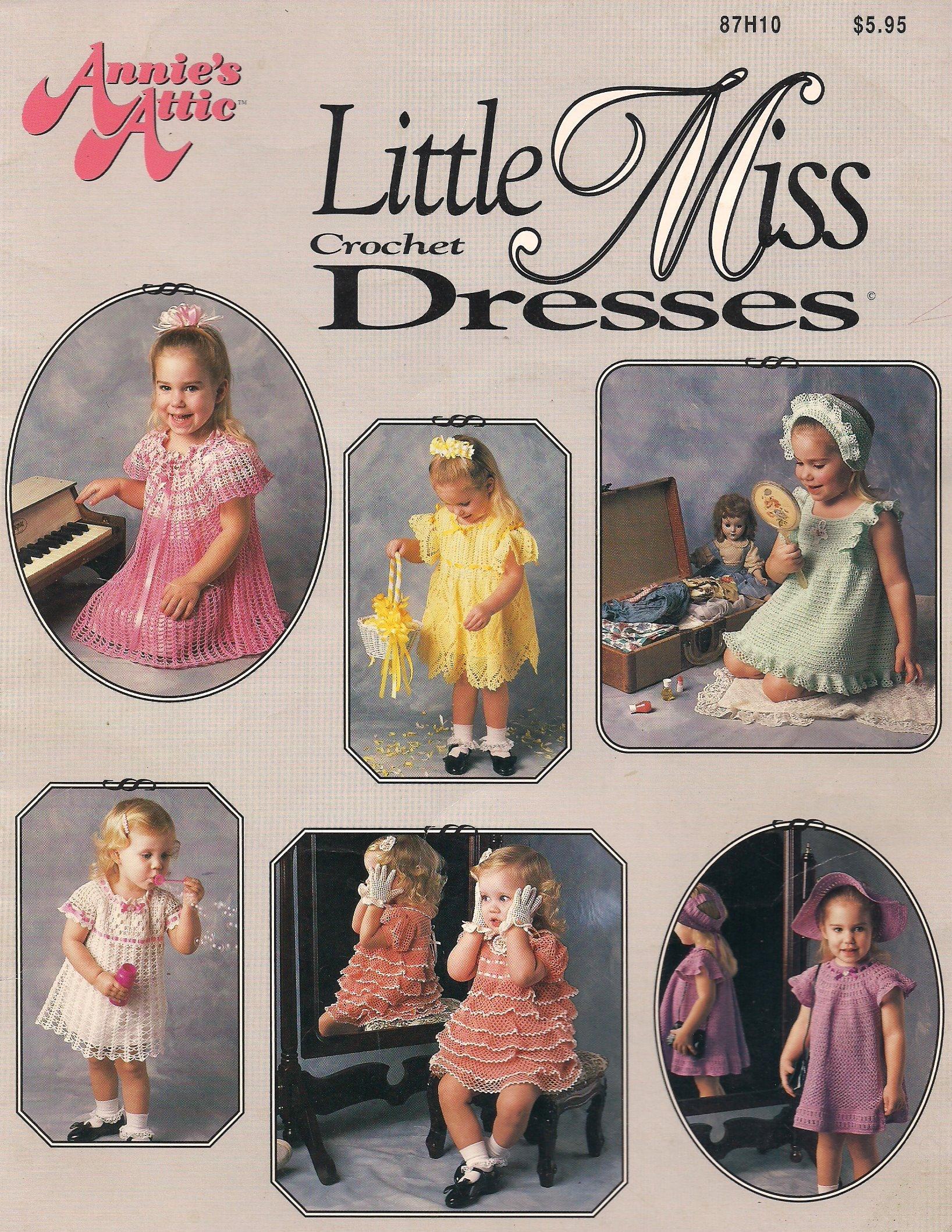 Annie's Attic Little Miss Crochet Dresses (87H10)
