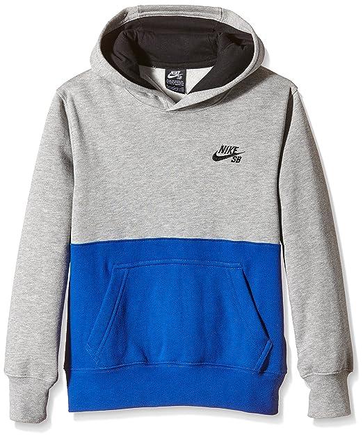 Nike Printed Pullover-Fleece, Sudadera para Niños, Dk Grey Heather, 10 años