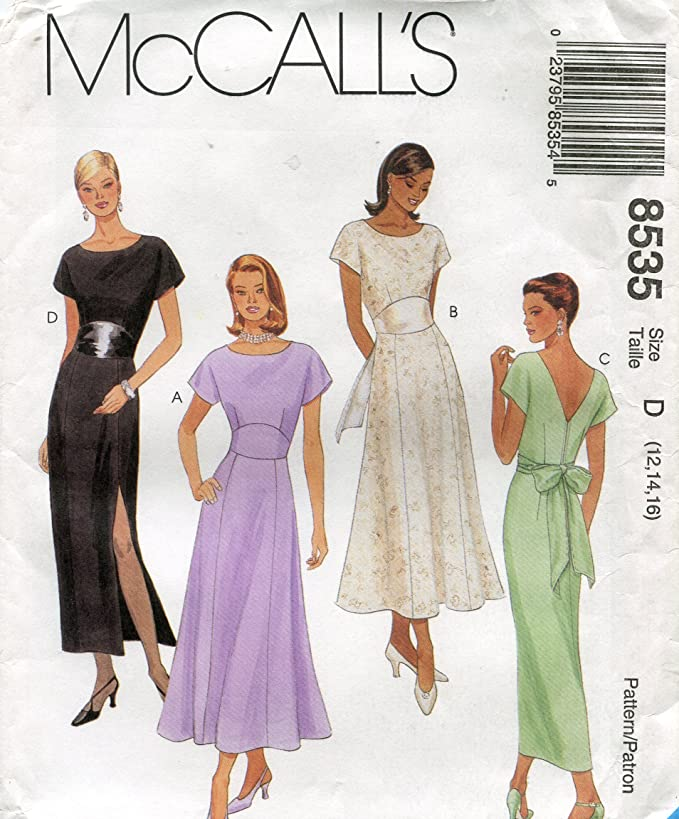 McCalls Pattern 8055 ~ Misses Dress in Two Lengths ~ Sizes 4-6-8
