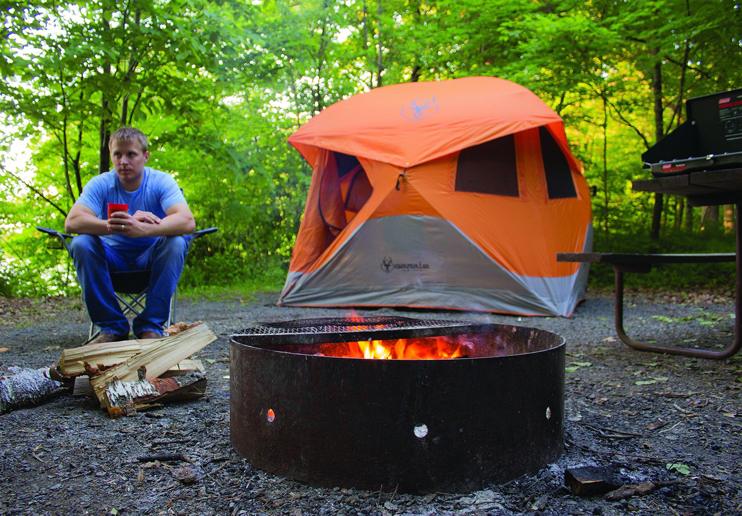 Gazelle 22272 T4 Pop Up Portable Camping Hub Tent Orange