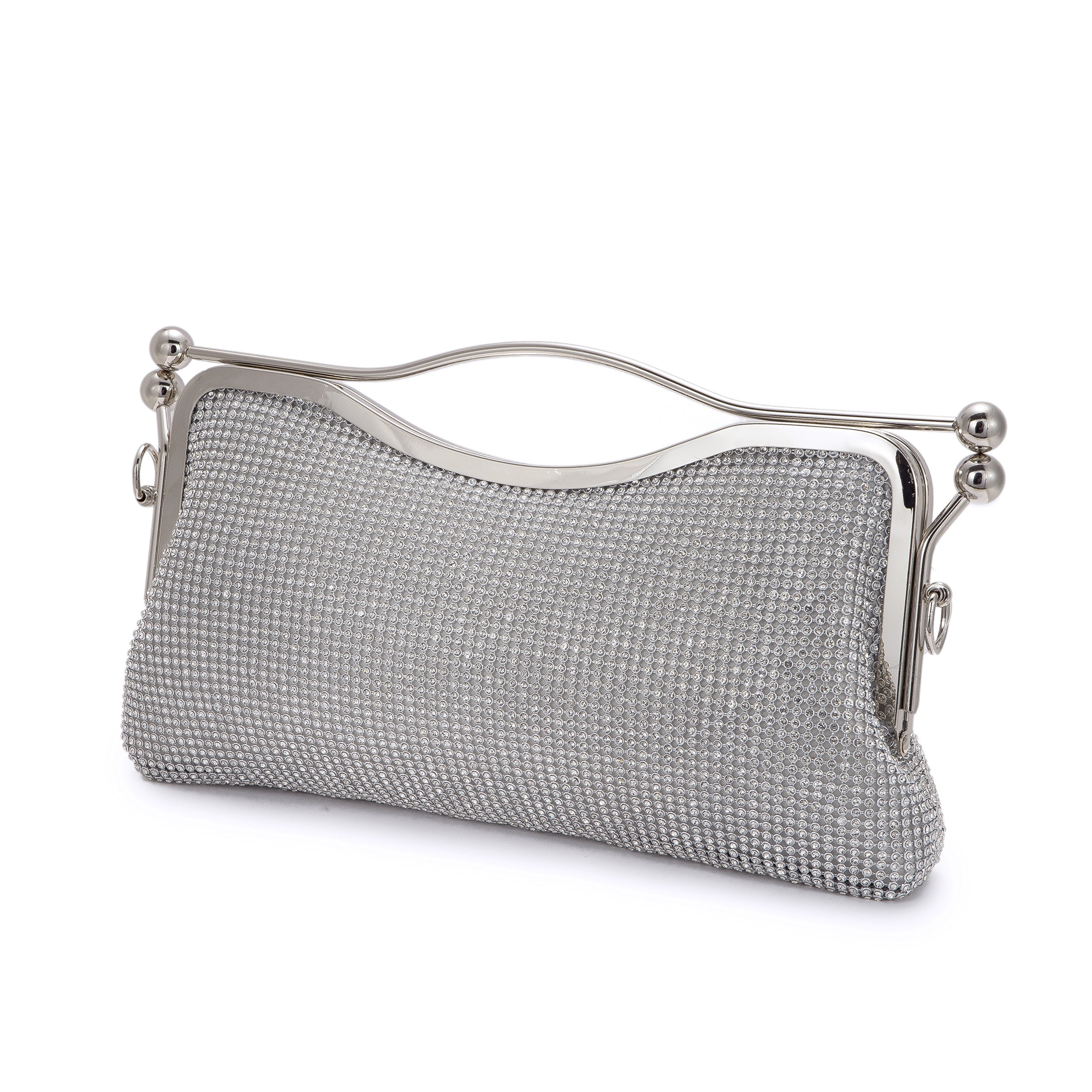 Xindi Evening Bags Silver Clutches for Women Handbags Messenger Bags Rhinestone Bags Women Large Capacity Shoulder Bag