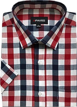 PM London Camisa de manga corta para hombre, talla grande, primavera, verano, mezcla de algodón de M a 6XL