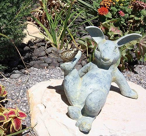 12″ Long Aluminum Hare Rabbit Laying