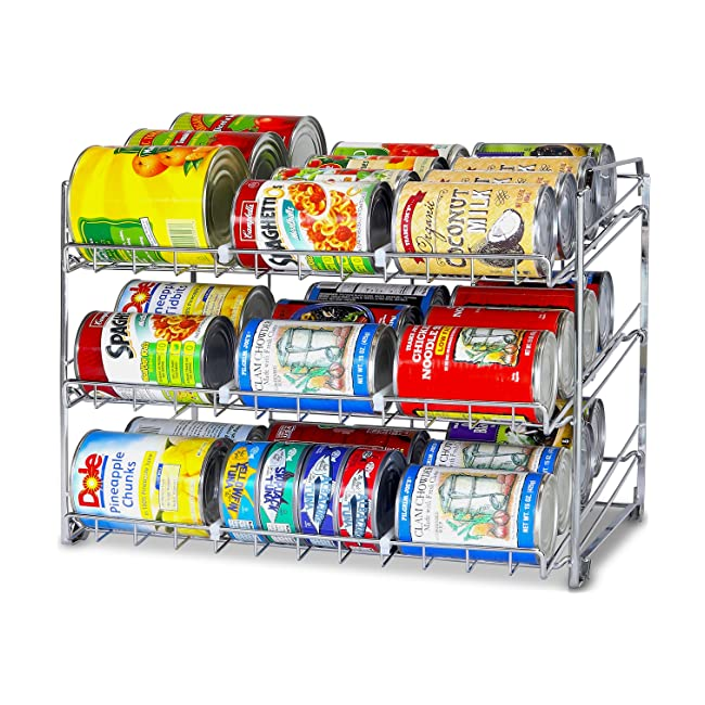 SimpleHouseware Stackable Can Rack Organizer, ...