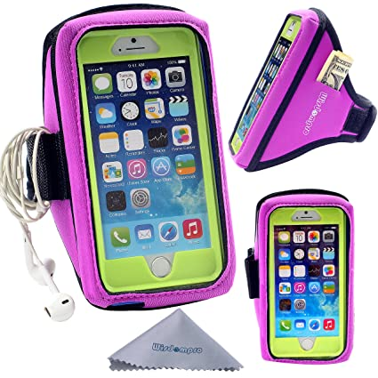 new product da653 fec21 Wisdompro iPhone 6 Armband, Galaxy S7 S6 OtterBox/Lifeproof Exercise  Workout Running Armband with Key Holder for OtterBox Defender or Commuter  Series ...