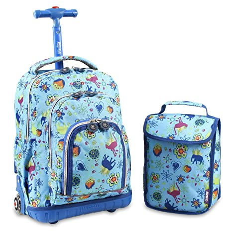 fd3d809f80 J World New York Lollipop Kids  Rolling Backpack with Lunch Bag ...