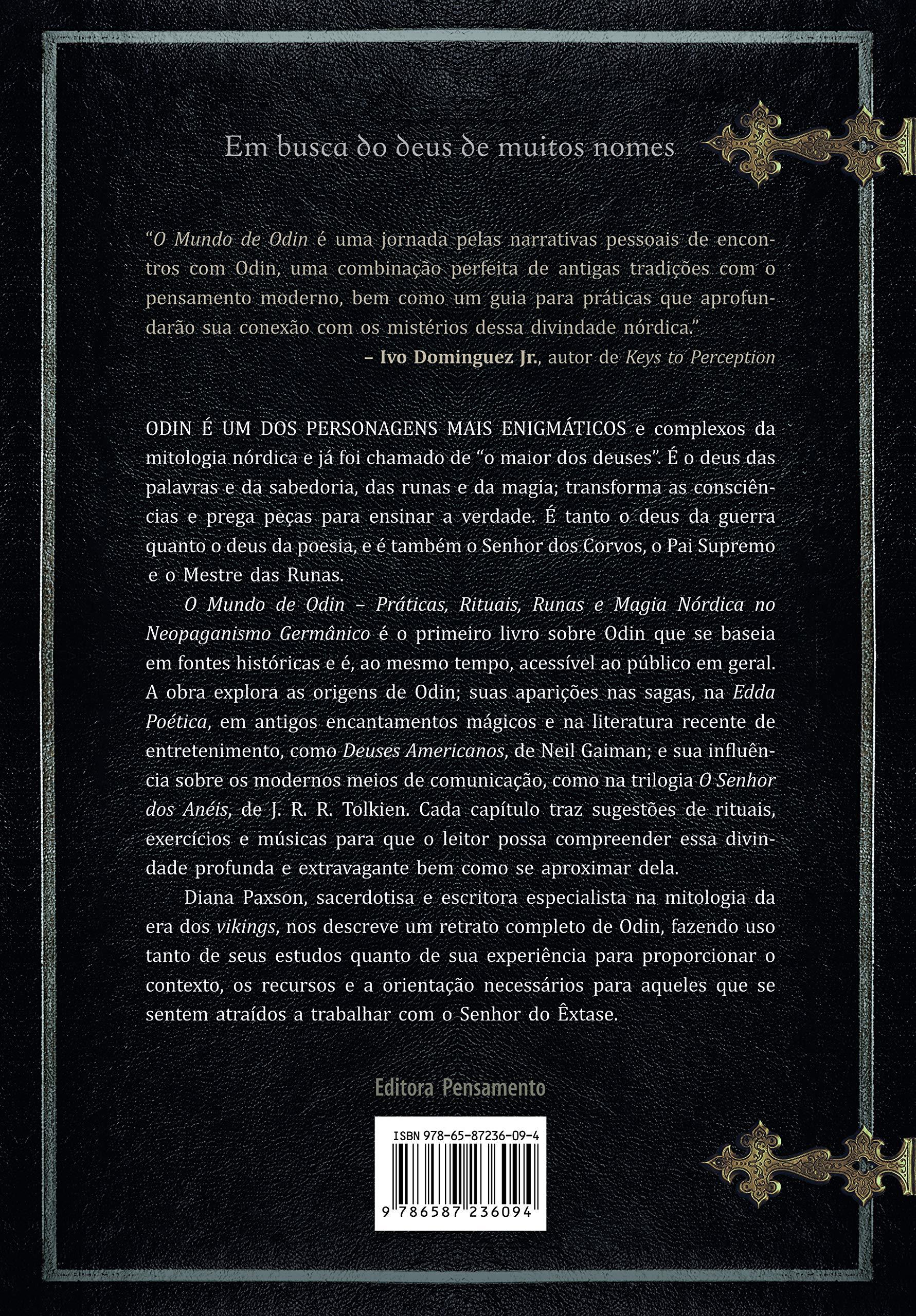 Livro 'O Mundo de Odin' por Diana L. Paxon