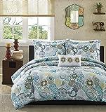 Mi-Zone Tamil Comforter Mini Set, Full/ Queen, Blue