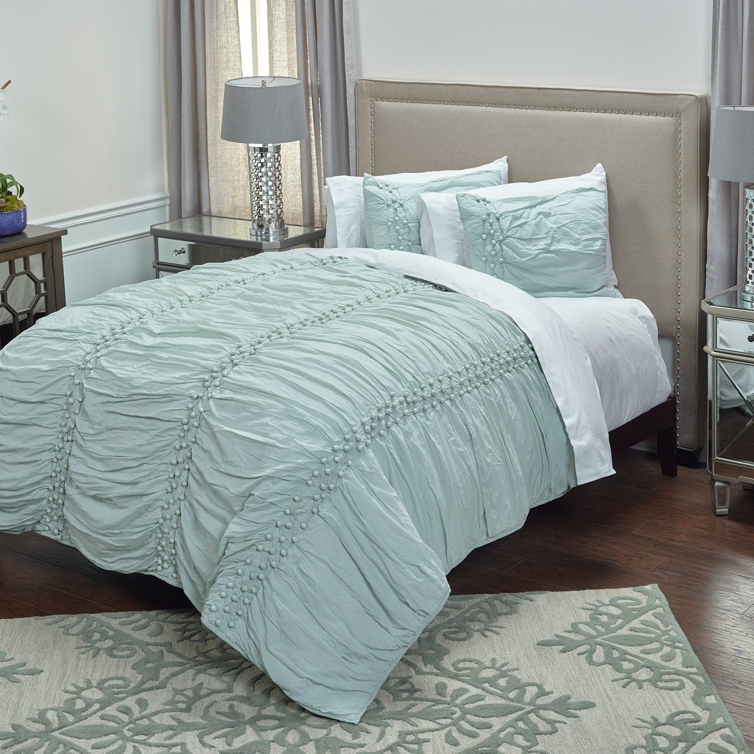 Rizzy Home QLTBT3000BX001692 Quilt, Salt Blue, King by Rizzy Home (Image #1)