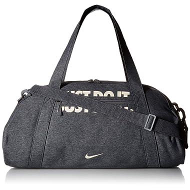 NIKE Women's Gym Club Duffel Bag, Cool Grey/Cool Grey/Guava Ice, One Size