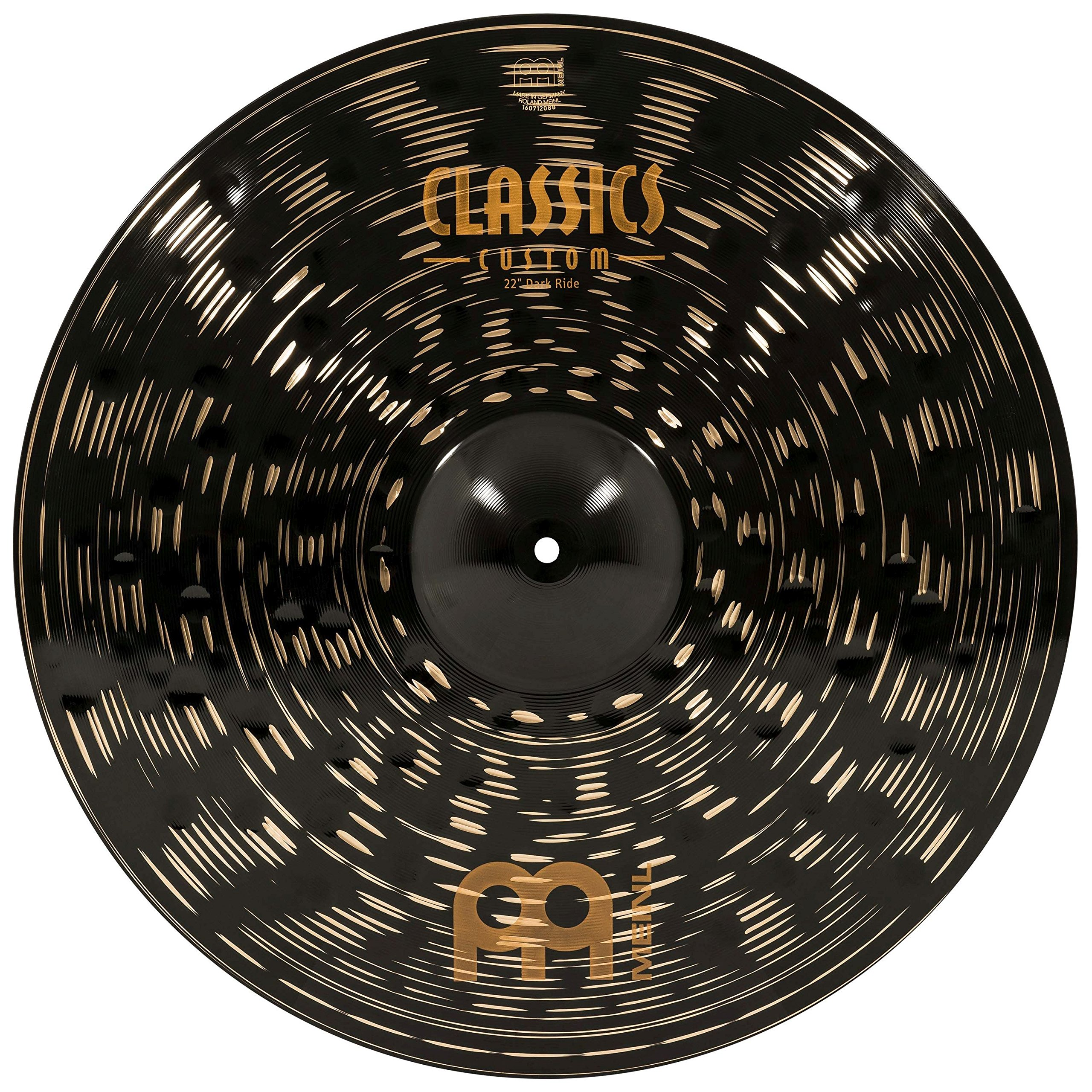 Meinl 22'' Ride Cymbal - Classics Custom Dark - Made in Germany, 2-YEAR WARRANTY (CC22DAR) by Meinl Cymbals