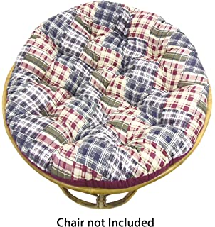 Cotton Craft Papasan Chair Cushion (unfilled Shell Only)   Madras Plaid  Blue Green Multi
