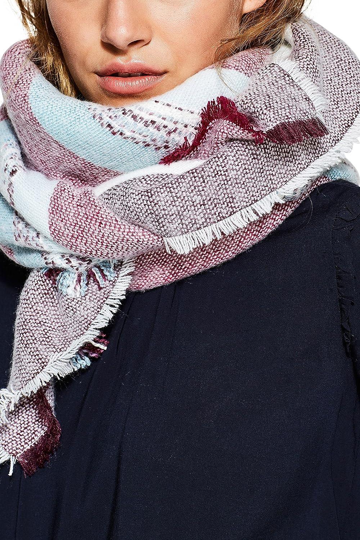 c6b95f3c4a4b edc by Esprit Accessoires 107ca1q006, Echarpe Femme, Rouge (Bordeaux Red 600),  Taille Unique  Amazon.fr  Vêtements et accessoires