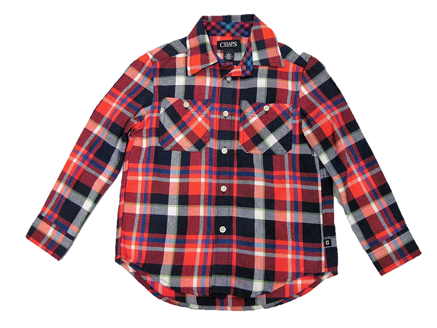 Amazon Chaps Boys Toddler Plaid Flannel Button Up Long Sleeve