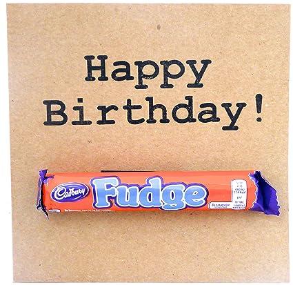Tarjeta del feliz cumpleaños de Chocolate Cadbury: Amazon.es ...