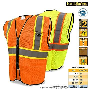 KwikSafety Class 2 Orange Construction Safety Vest