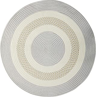 product image for Crescent Round Area Rug, 10-Feet, Silver