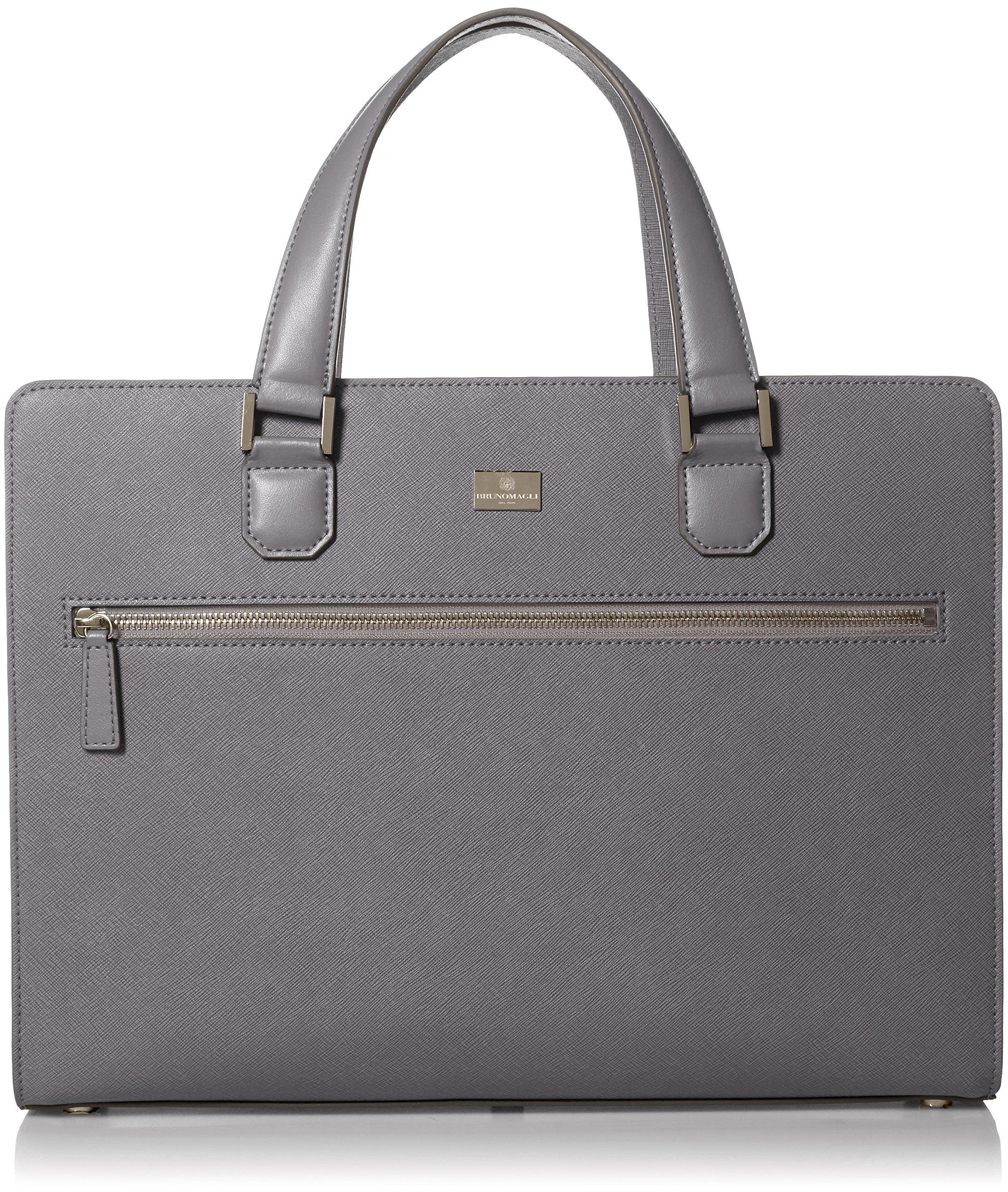 02b41c6e98cc Bruno Magli Men's Neoclassico Full Zip Briefcase, grey One Size
