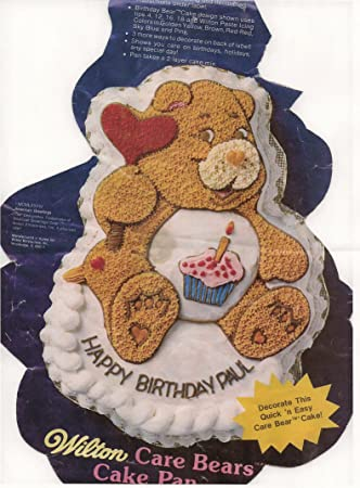 Wilton Care Bears Friend Bear Cheer Bear Cake Pan 2105-1793, 1983