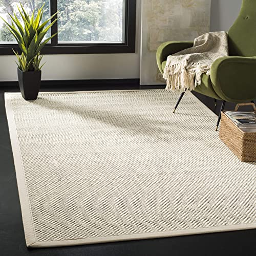 Safavieh Natural Fiber Collection Abstract Area Rug, 3 x 5 , Black Ivory Sisal