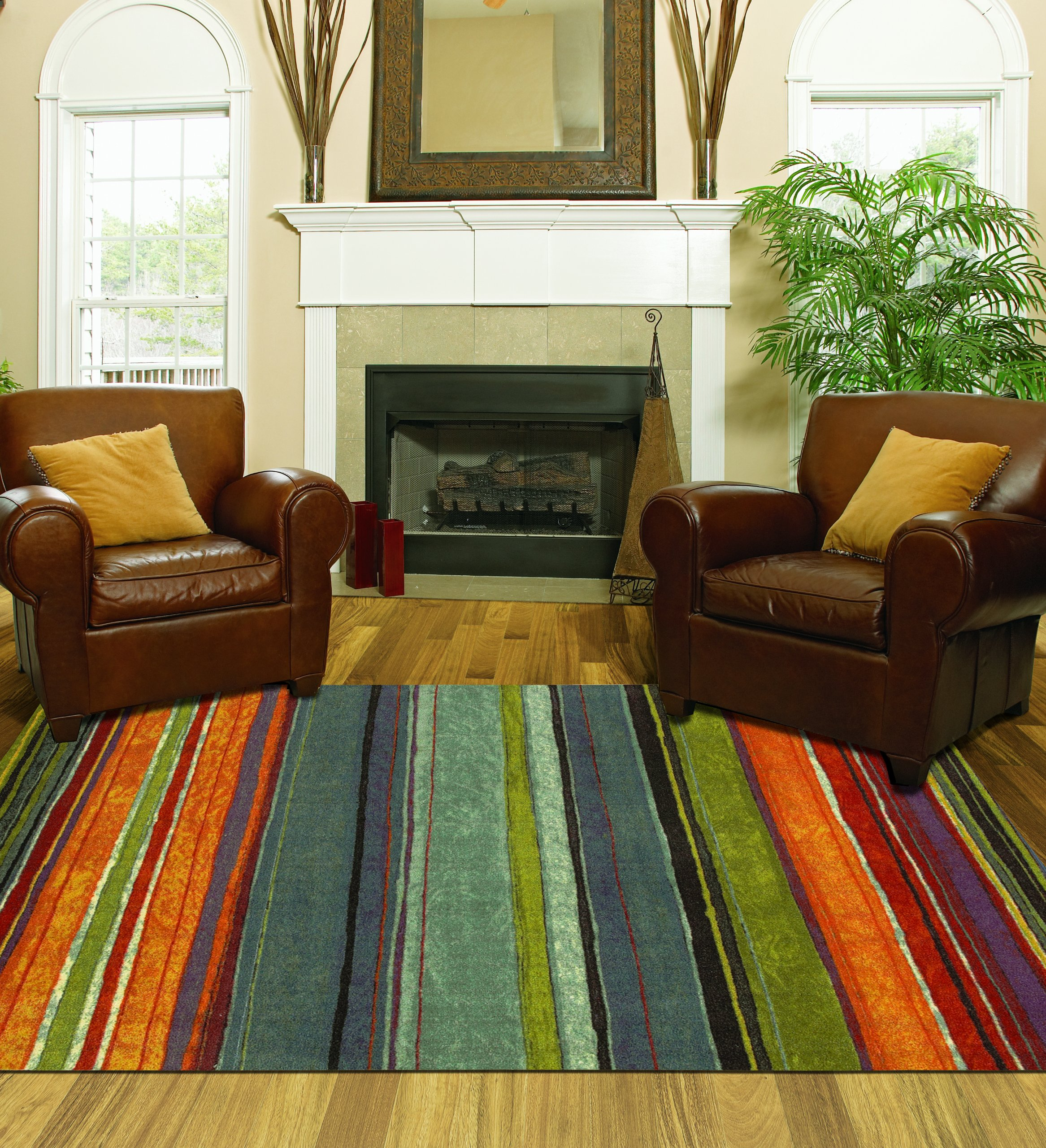 Mohawk Home New Wave Rainbow Printed Rug, 8'x10', Multi by Mohawk Home (Image #1)