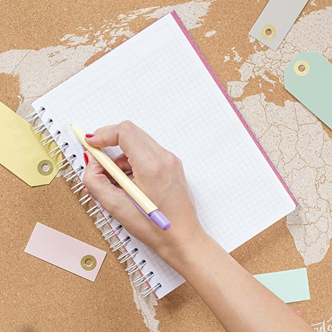 La Mente es Maravillosa | Cuaderno A5 original con divertidas pegatinas | Diseño con dibujo, frase y motivación | Espiral de calidad | Tapa dura y ...