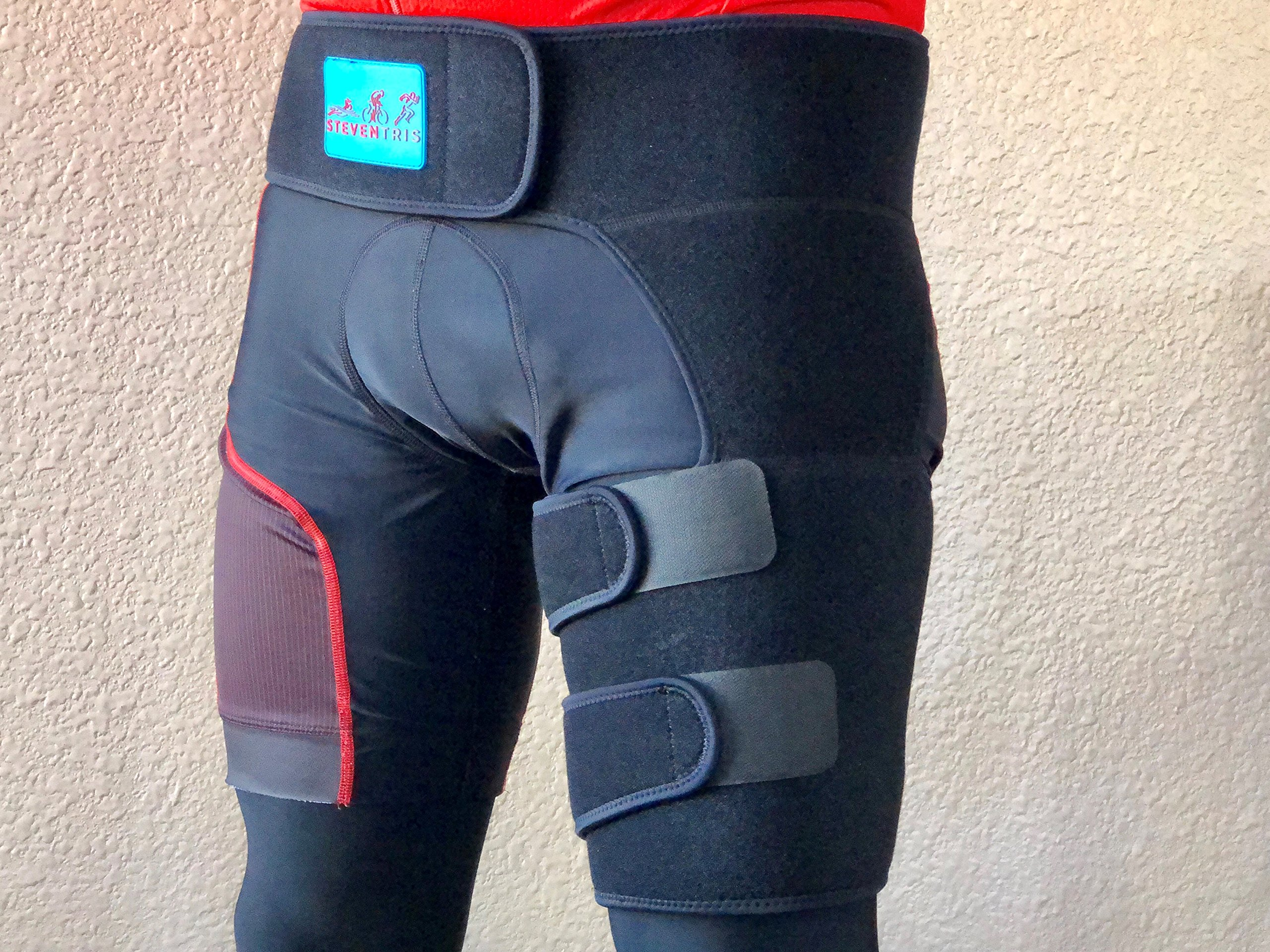 Groin Wrap. Strong Velcro, Stays in Place. Effective Relief for Groin, Hip, Thigh, Quad, Hamstring, Joints. Adjustable Support Brace With Exercises. For both Men & Woman