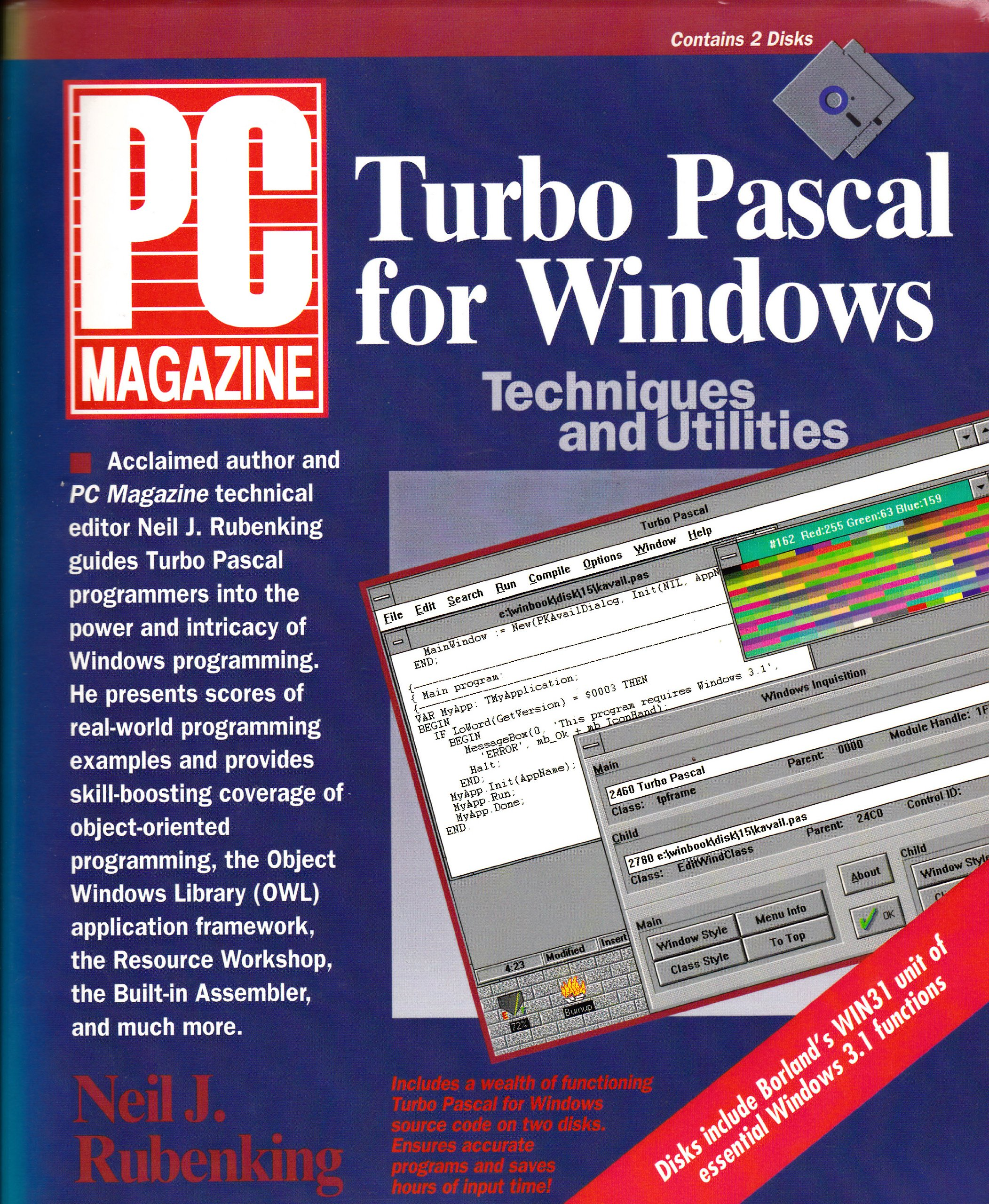 PC Magazine Turbo Pascal for Windows Techniques and Utilities/Book and Disks: Neil J. Rubenking: 9781562760359: Amazon.com: Books