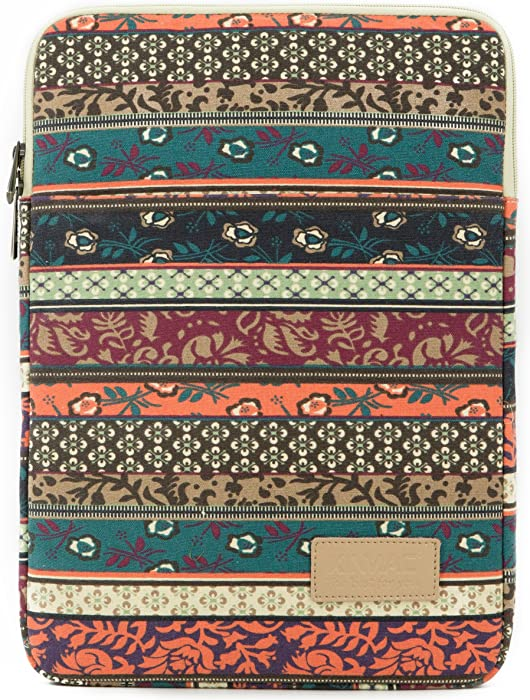 Kinmac New Bohemian Pattern Vertical Style 15 inch Laptop Sleeve with Pocket 15 inch 15.6 inch Laptop Sleeve Bag case