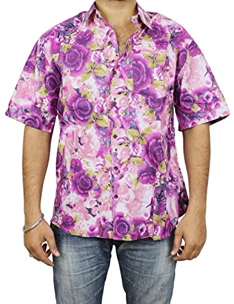 fcf3013c20 Indian Beach Wear Dresses Cotton Printed Shirt Comfortable Airy Fashion  Accessory For Men: Amazon.in: Clothing & Accessories