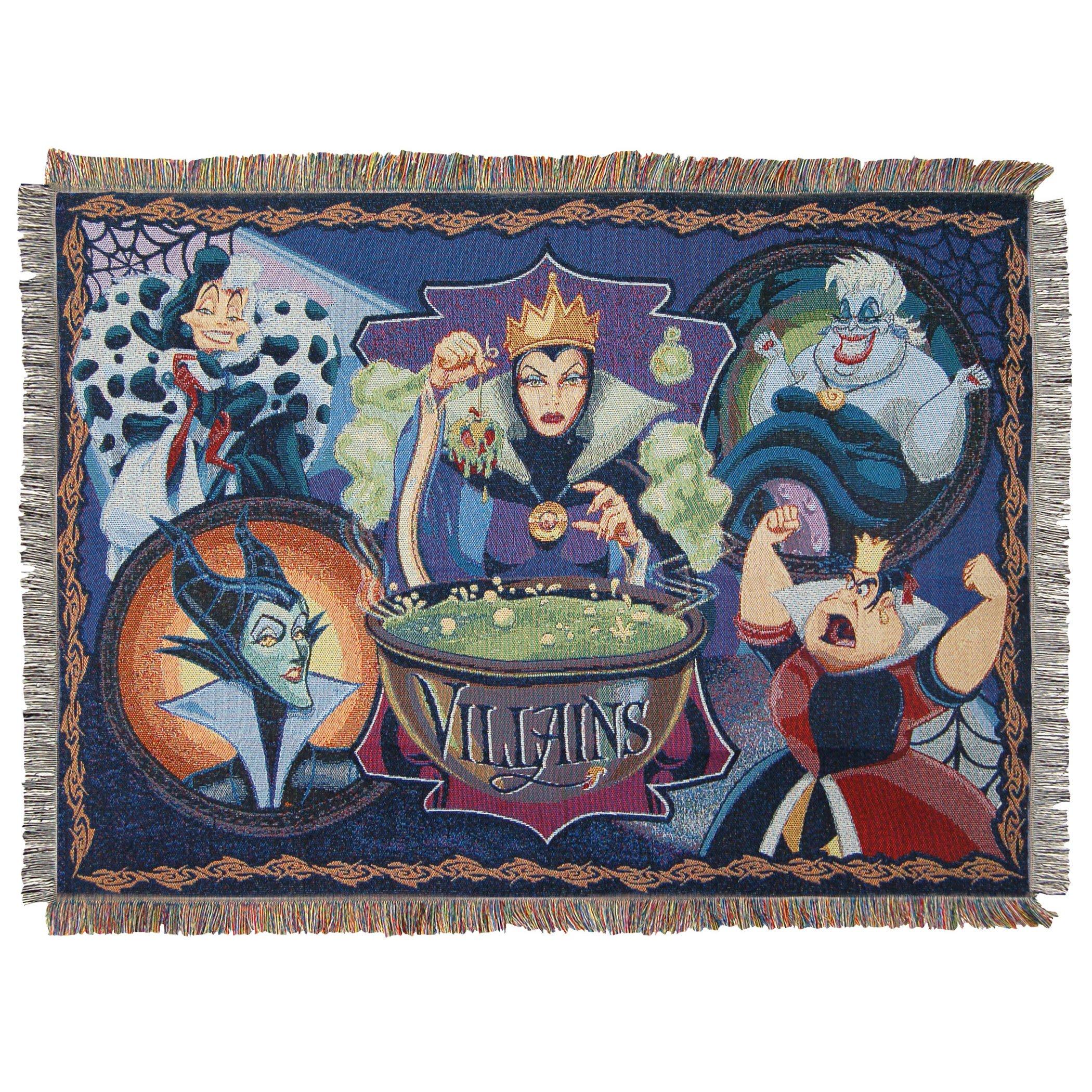 Disney-Pixar's Villains, ''Vile Villains'' Woven Tapestry Throw Blanket, 48'' x 60'', Multi Color by Disney