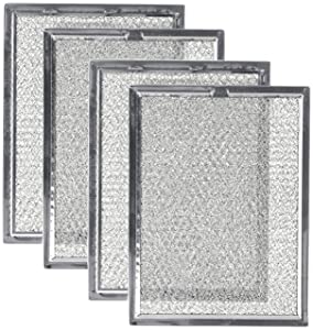 Nispira Replacement Microwave Oven Grease Filter Compatible With Frigidaire 5303319568, 4 Filters