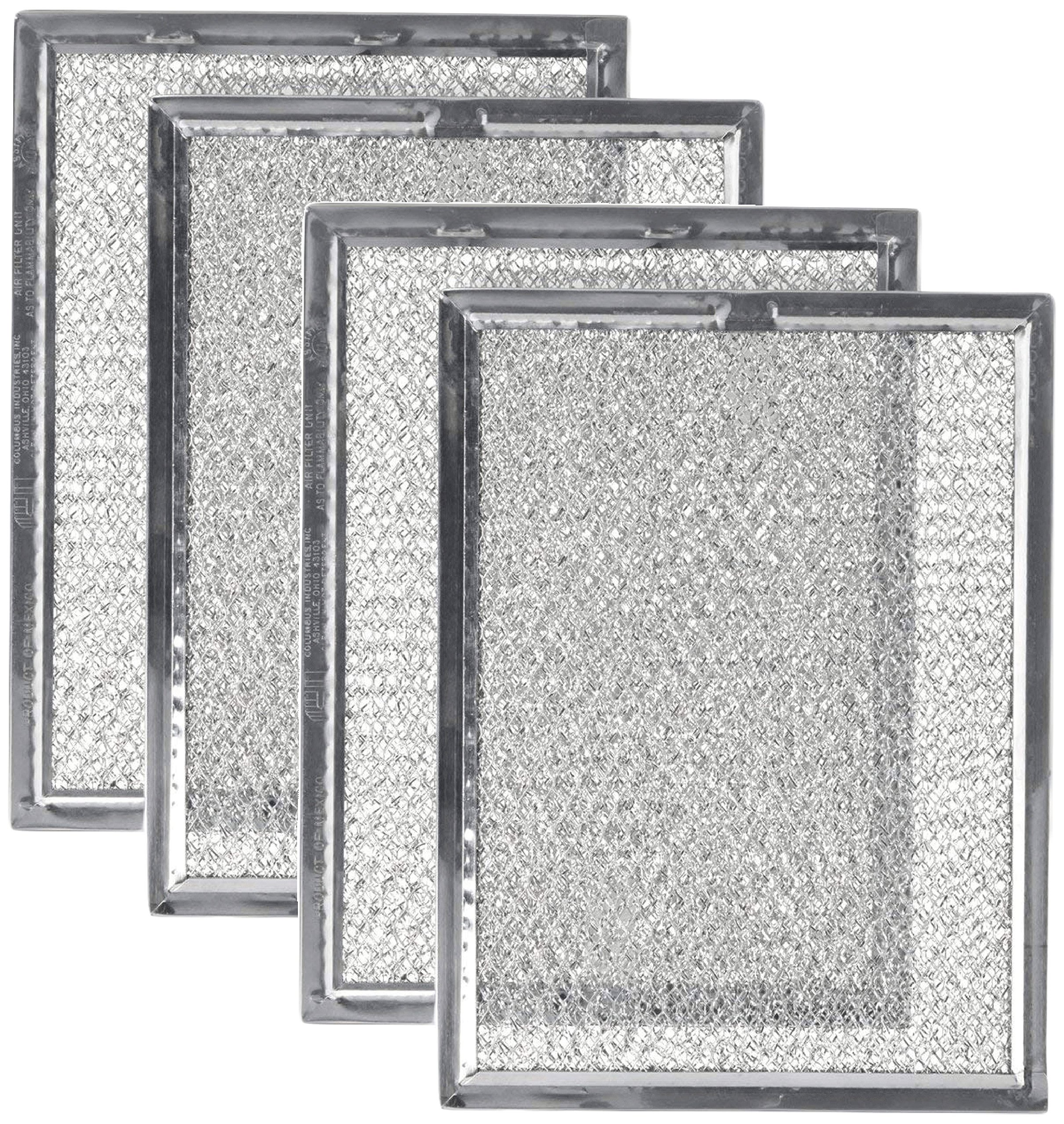 Replacement Microwave Oven Grease Filter For Frigidaire 5303319568, 4 Filters
