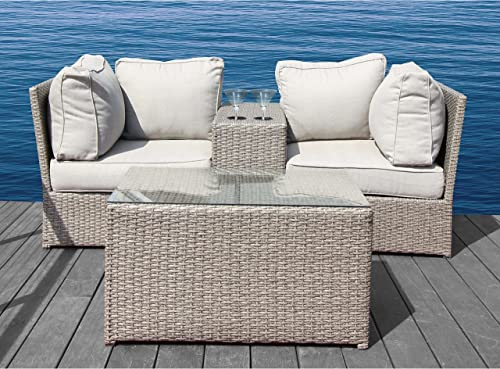 Living Source International Chelsea Collection Outdoor Furniture Patio Sofa Couch Garden