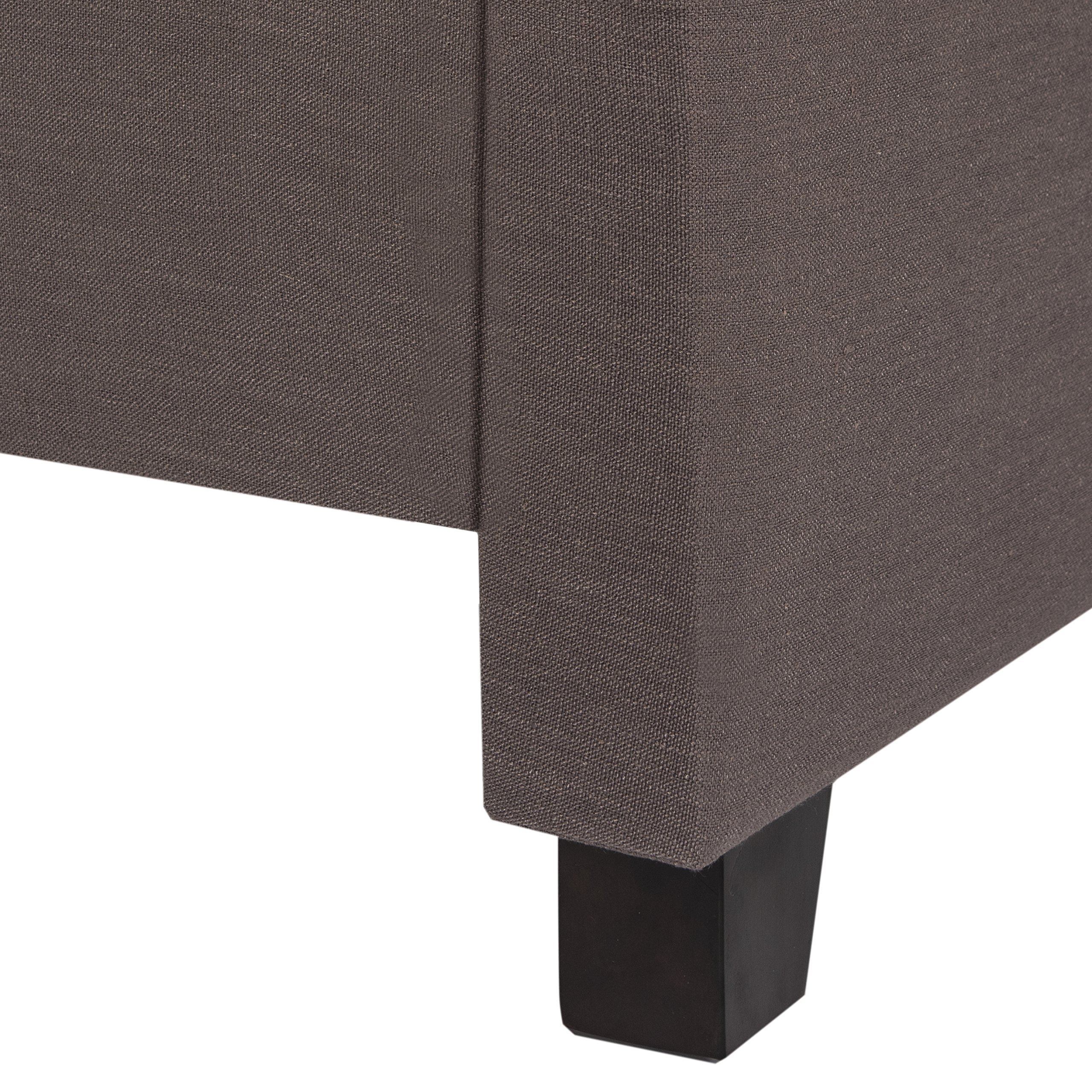 Safavieh Home Collection Theron Dark Taupe & Espresso Bed, Queen