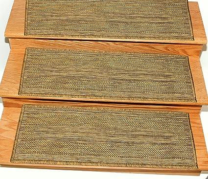 Beau Ottomanson Jardin Collection Set Of 7 Bordered Design 8.5u0026quot; X 26u0026quot;  Jute Back Indoor