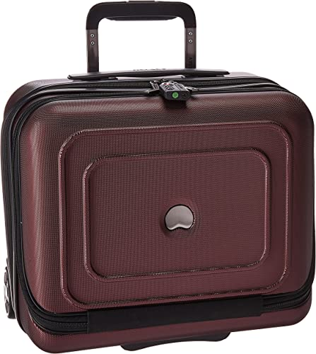 DELSEY Paris Cruise Lite Hardside 2 Wheel Underseater W Front Pocket, Black Cherry, One Size