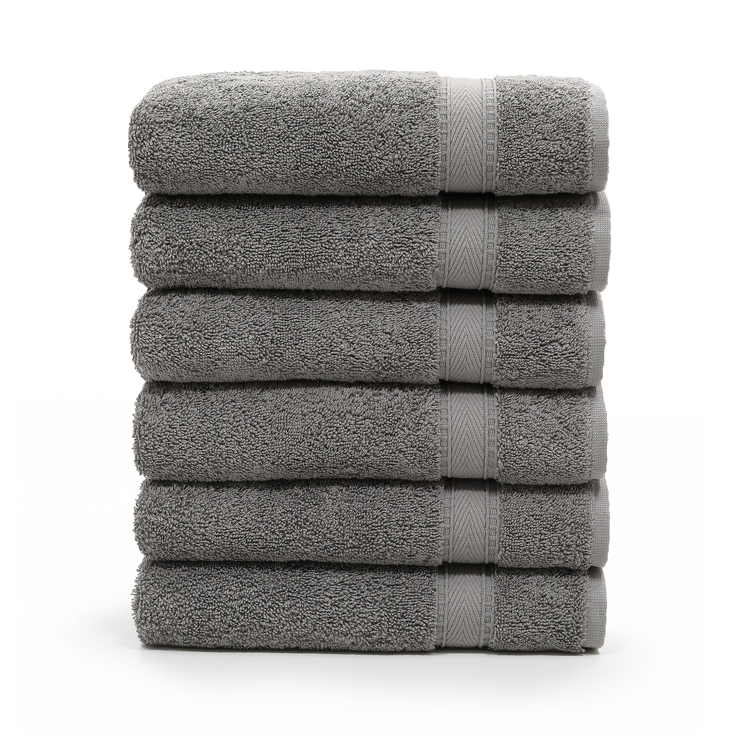 Linum Home Textiles SN96-6HT Bath Towel, Dark Grey