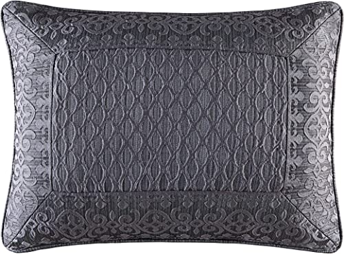 Five Queens Court Beaumont Boudoir Throw Pillow, Graphite