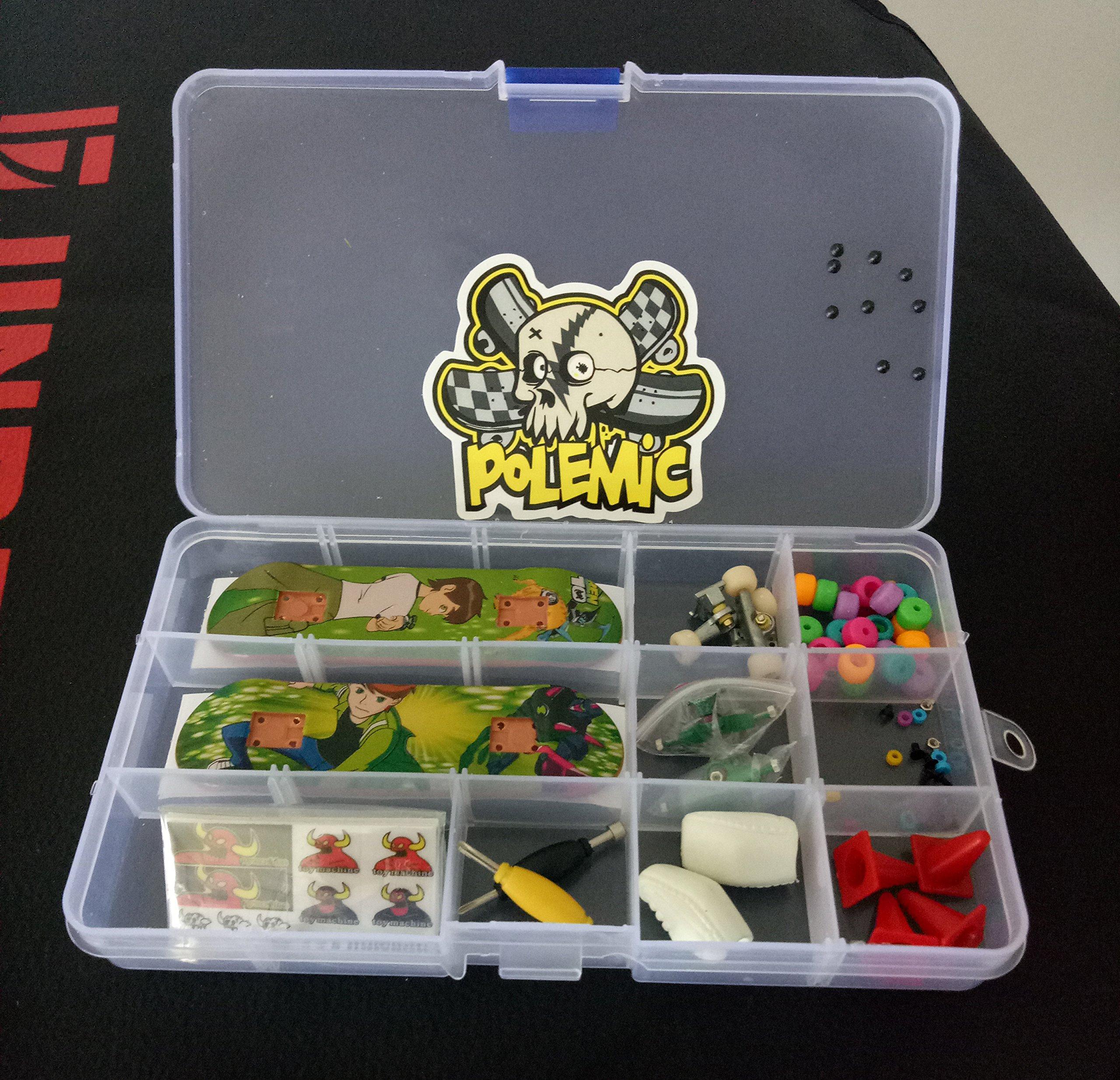 Fanci ABS Finger Skateboard Set Double Rocker DIY Mini Finger Boarding Toy with Storage Box by Fanci (Image #9)