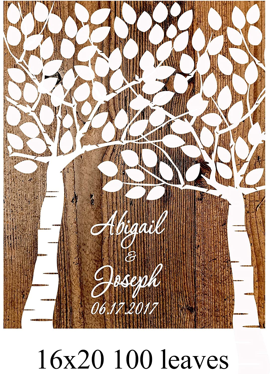 Wedding Tree Print guest book Personalized Wedding Gift for signature Sign Personalized Gift