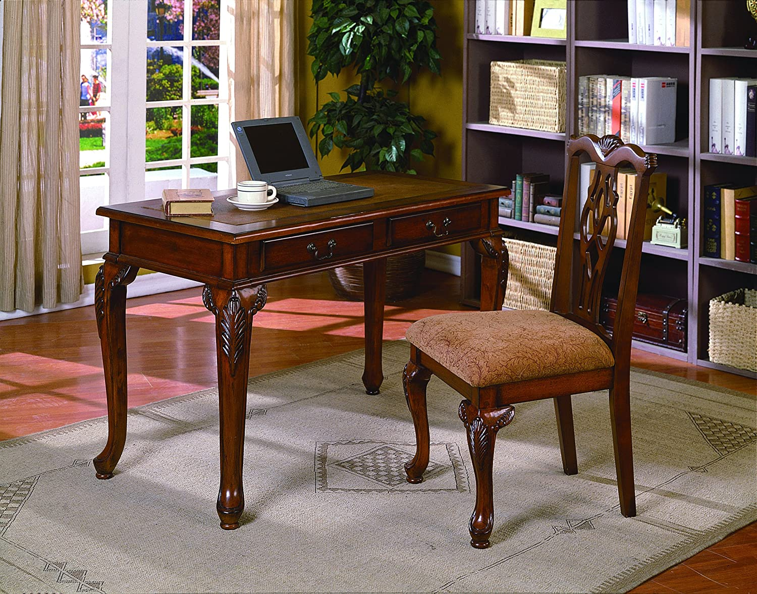 Amazon.com: Crown Mark Fairfax Home Office Desk/Chair Set: Kitchen U0026 Dining