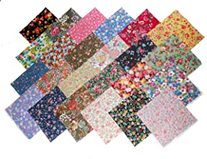"""48 10"""" Layer Cake New Among The Flowers Quilt Fabric Squares- 48 Different Prints - 1 of Each"""