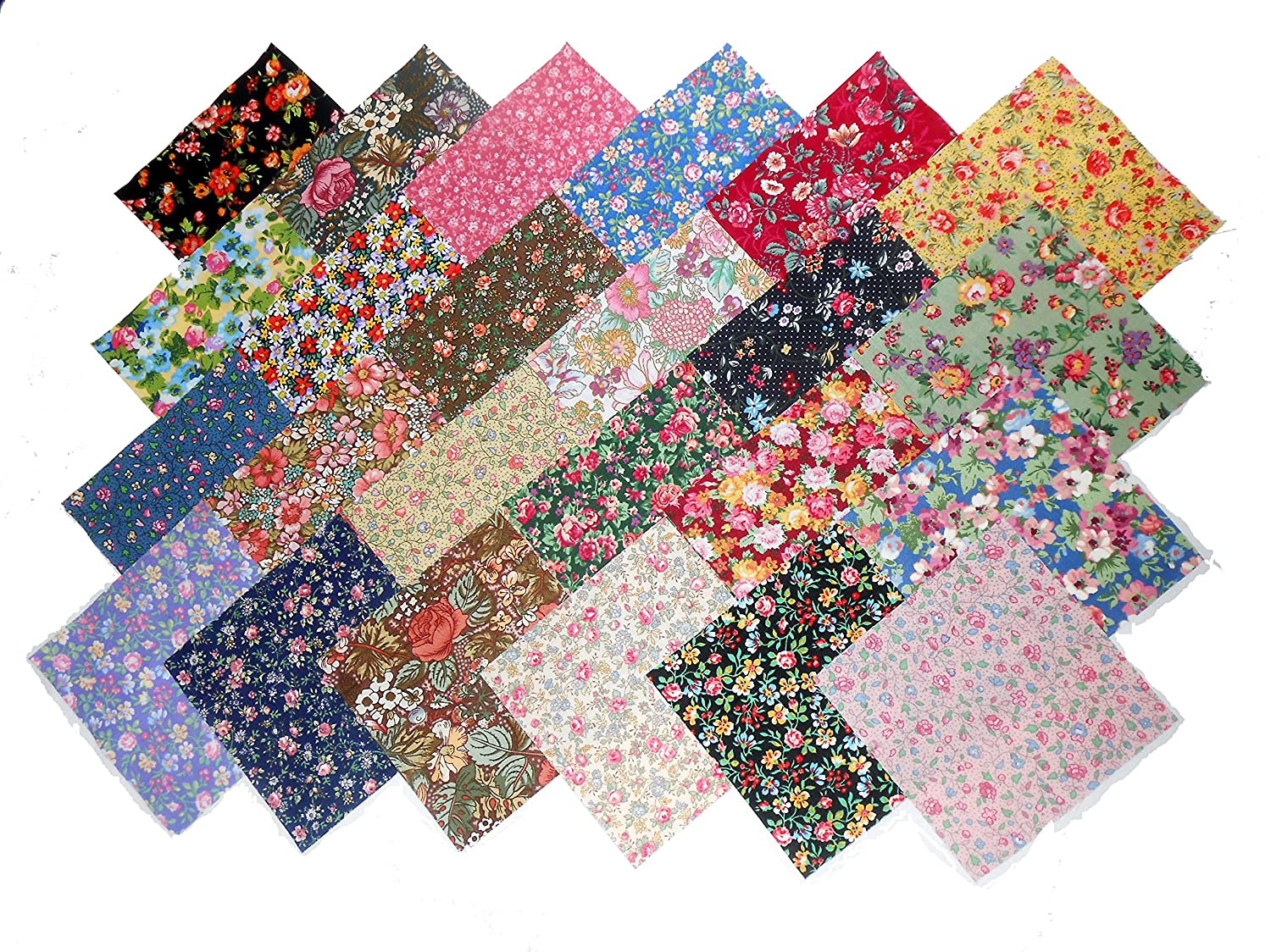 48 10 Layer Cake NEW Among the Flowers Quilt Fabric Squares- 48 DIFFERENT PRINTS - 1 OF EACH MDG