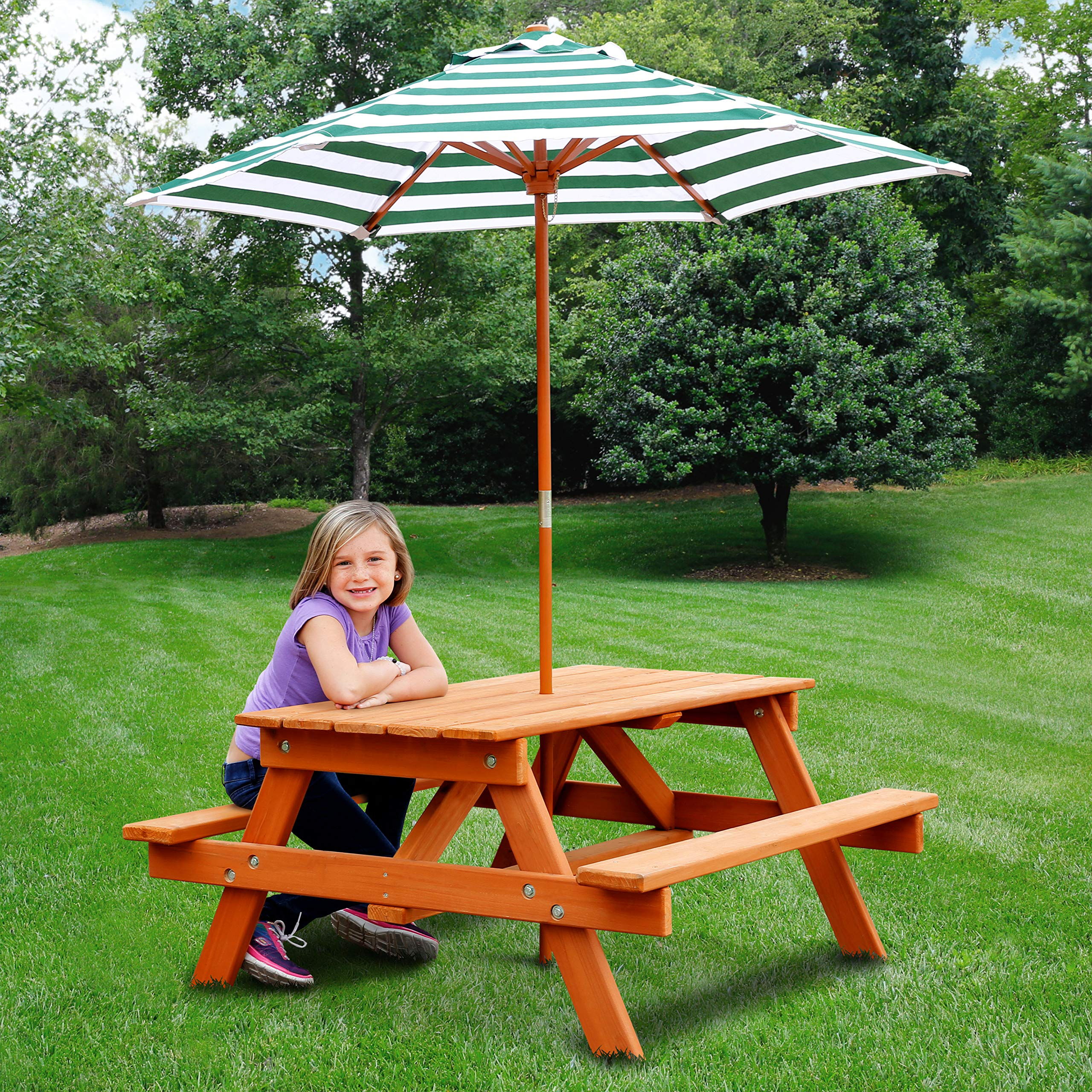 Jur_Global Wooden Children's Picnic Table with Umbrella by Jur_Global (Image #5)