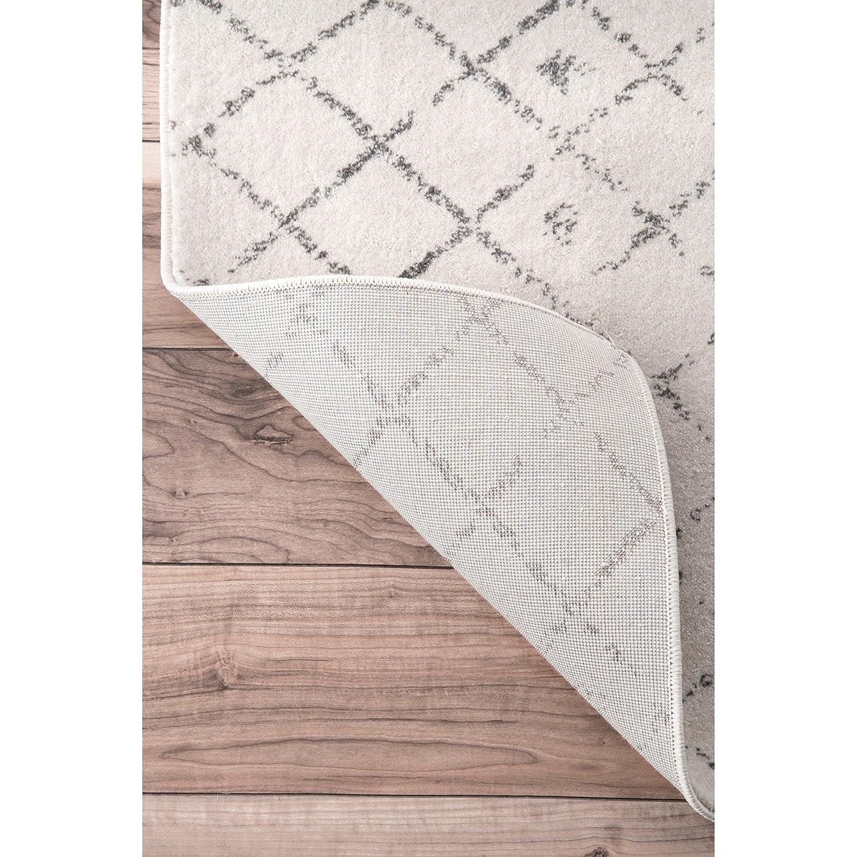 Amazon Traditional Vintage Moroccan trellis Doormat Grey Area