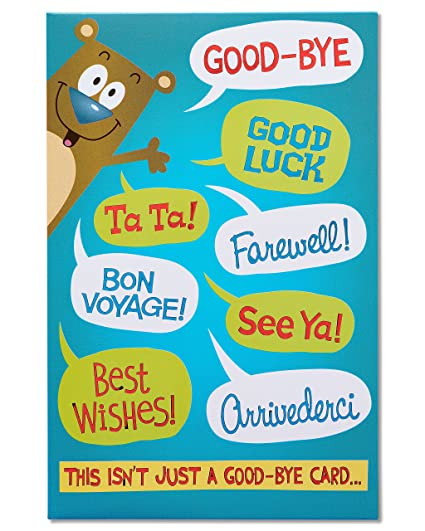 Amazon american greetings funny packable hug goodbye american greetings funny packable hug goodbye congratulations card with foil m4hsunfo