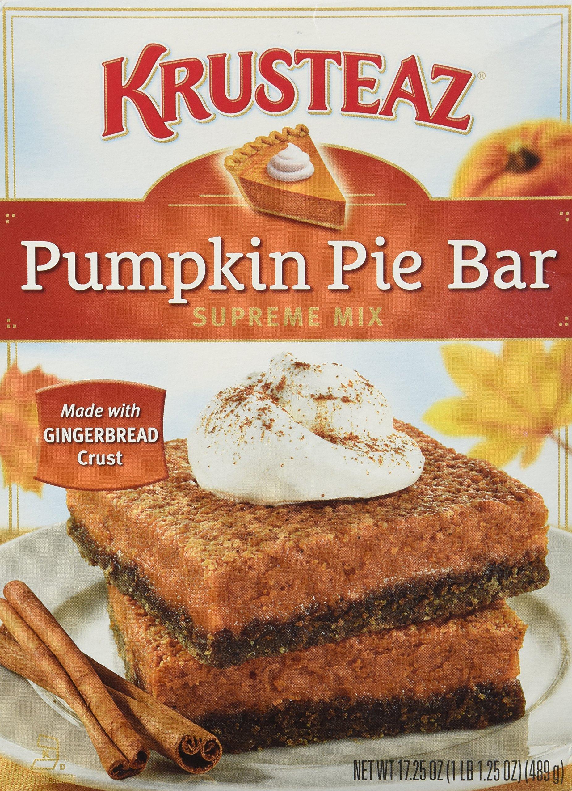 Krusteaz, Pumpkin Pie Bar Supreme Mix, 17.25oz Box (Pack of 3) by Krusteaz
