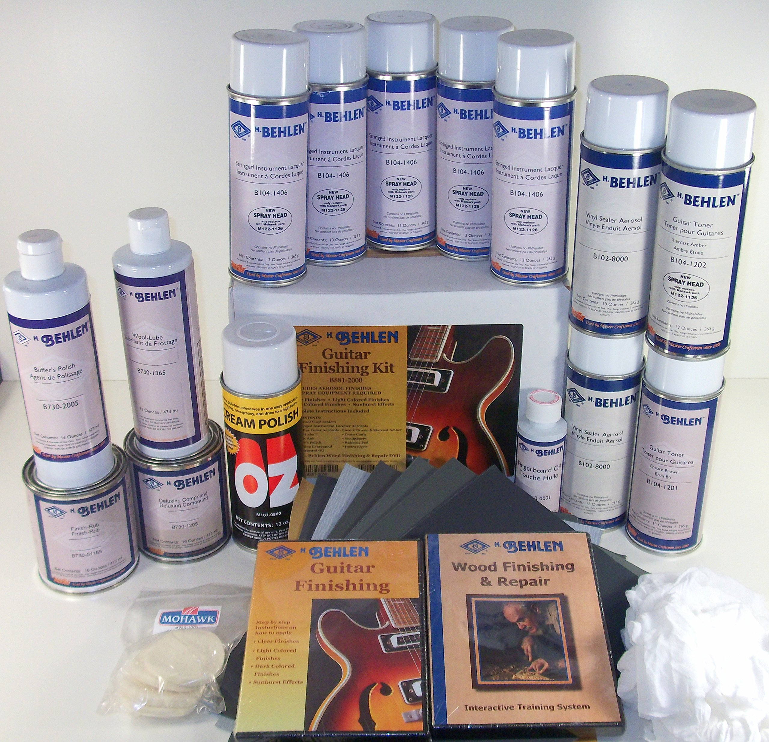 Behlen Guitar Finishing Kit ''Get Professional Results'' With OZ Polish