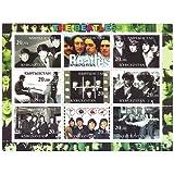 Klassische Beatles Sammlermarken - 9 mint perforiert Briefmarken mit klassischen Fotos und Magazin-Aufnahmen der Band